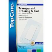 TopCare Dressing & Pad, Transparent, Waterproof
