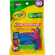 GUM Kids' Flossers, Grape Flavor