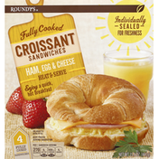Roundy's Croissant Sandwiches, Ham, Egg & Cheese