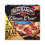 Red Baron Classic Crust Pepperoni Pizza - 2 PK