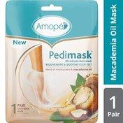 Amope® Pedimask Foot Sock Mask, Macademia Oil Essence