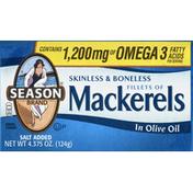 Season Mackerels, Fillets, in Olive Oil