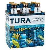Tura Alcoholic Kombucha, Organic Blueberry Ginger