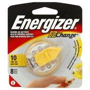 Energizer Batteries, Hearing Aid, 10 Zinc Air