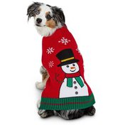 Small Holiday Snowman Sweater