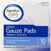 Signature Care Gauze Pads, Sterile, Medium