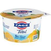 FAGE Total 5% Milkfat All Natural Whole Milk Greek Strained Yogurt with Sicilian Lemon