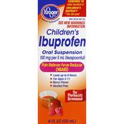 Kroger Ibuprofen, Children's, 100 mg, Oral Suspension, Berry Flavor