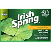 Irish Spring Deodorant Soap, Original, Feel Clean and Fresh