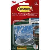 3M Command Window Hooks, Outdoor, Medium, Value Pack