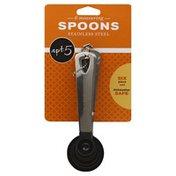 Apt 5 Measuring Spoons, Stainless Steel, 6 Piece