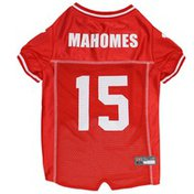 Pet First Medium NFL Number 15 Patrick Mahomes Dog Jersey
