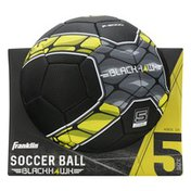 Franklin Sports Soccer Ball, Blackhawk, Size 5