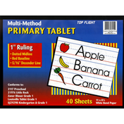 Top Flight Tablet, Primary, Multi-Method, 40 Sheets