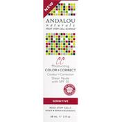 Andalou Naturals Color + Correct, Moisturizing, Sensitive, Sheer Nude