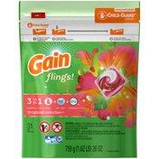 Gain Flings! 3-in-1 Tropical Sunrise Pacs Laundry Detergent