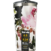 Tervis Tumbler with Lid, Stainless Steel, Kelly Ventura Posy, 20 Ounce