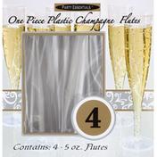 Party Essentials Champagne Flutes, Plastic, 5 Ounces
