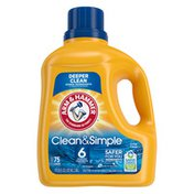 Arm & Hammer Clean & Simple, 75 Loads Liquid Laundry Detergent,, (Packaging May Vary)