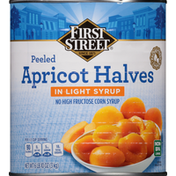 First Street Apricot Halves in Light Syrup, Peeled