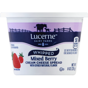 Lucerne Cream Cheese Spread, Mixed Berry, Whipped