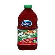 Ocean Spray No Sugar Added Cranberry Strawberry Banana Fruit & Veggie 100% Juice