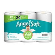 Angel Soft Toilet Paper, 12 Double Rolls, 2-Ply