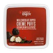 Simply Enjoy Creme Puffs Custard Cream Filled Pastry Milk Chocolate Dipped
