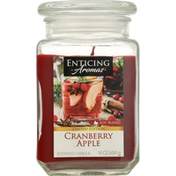 Enticing Aromas Scented Candle, Cranberry Apple