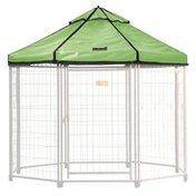 Advantek Pet Pet Outdoor Gazebo Designer Polyester Market Canopy Cover Tarp Umbrella Top - River Green - 5'