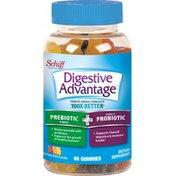 Digestive Advantage Probiotic Plus Fiber Natural Fruit Flavor Gummies - Supports Digestive & Immune Health