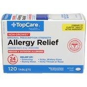 TopCare Original Prescription Strength Non Drowsy Allergy Relief Loratadine Tablets, 10 Mg Antihistamine