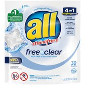 all Laundry Detergent Pacs, Free Clear for Sensitive Skin
