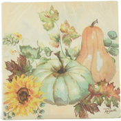 CR Gibson Napkins, Lunch, Sunflowers & Pumpkins, 3-Ply