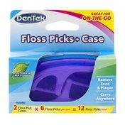 DenTek Floss Picks + Case Mouthwash Blast - 12 CT