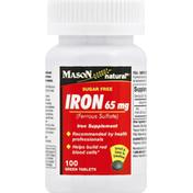 Mason Natural Iron, 65 mg, Green Tablets