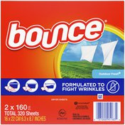 Bounce Outdoor Fresh Scented Fabric Softener Dryer Sheets, Outdoor Fresh