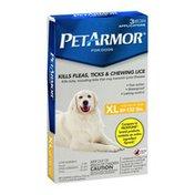 PetArmor For Dogs Kills Flea, Ticks, & Chewing Lice XL 89-132 lbs - 3 CT