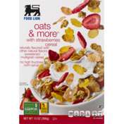 Food Lion Cereal, Oats & More, With Strawberries, box