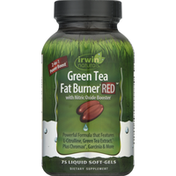 Irwin Naturals Green Tea, Fat Burner Red, with Nitric Oxide Booster, Liquid Soft Gels