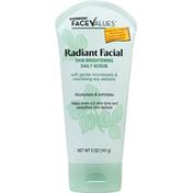 Harmon Face Values Daily Scrub, Radiant Facial Skin Brightening