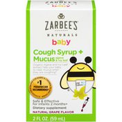 Zarbee's Naturals Grape Cough Syrup & Mucus Reducer