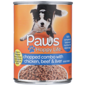 Paws Happy Life Chopped Combo With Chicken, Beef & Liver Dog Food
