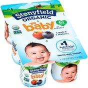 Stonyfield® Organic YoBaby Apple/Blueberry Whole Milk Yogurt with Probiotics