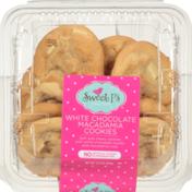 Sweet P's White Chocolate Macadamia Cookies With White Chocolate Chunks And Macadamia Nuts