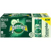 PERRIER Cucumber Lime Flavored Carbonated Mineral Water