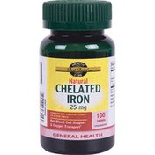 Best Choice 25 mg Natural Chelated Iron Tablets