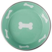Harmony 6-Cup Teal Enamel Stainless Steel Dog Bowl