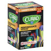 CURAD Antibacterial Bandages, Assorted, Variety Pack