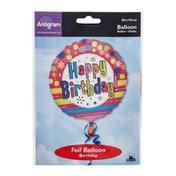 "Anagram Foil Balloon 18"" Happy Birthday Bright"
